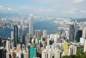 Hong Kong - from peak - contact page